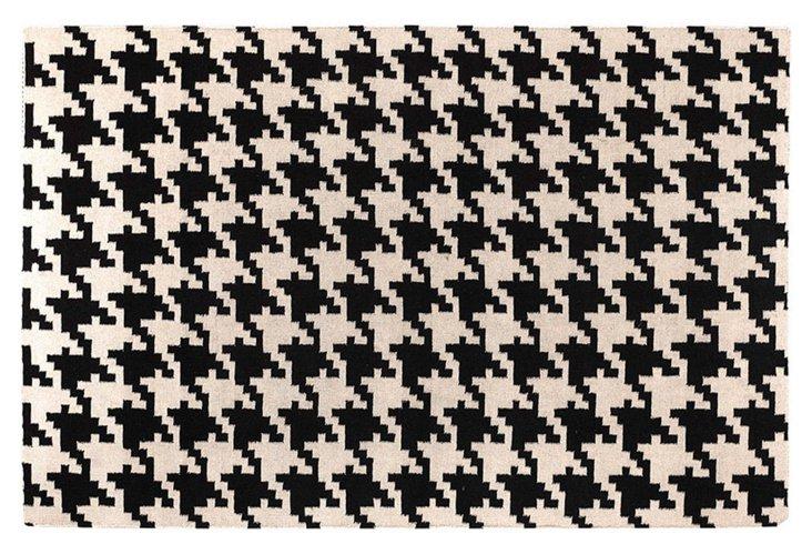 Duckett Flat-Weave Rug, Black