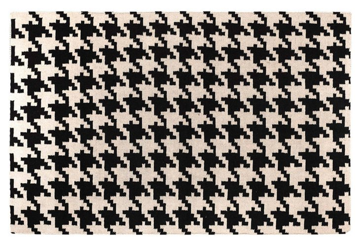 "3'6""x5'6"" Duckett Flat-Weave Rug, Black"