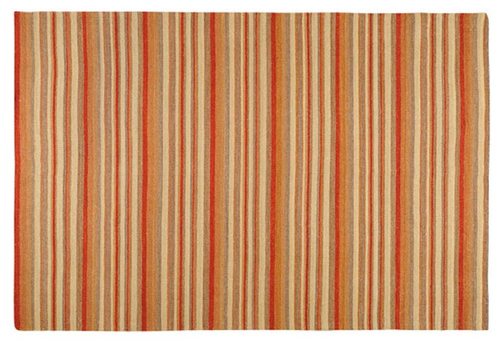 Frontier Rug, Red Stripe