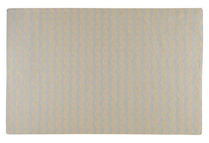 Ari Flat-Weave Rug, Pale Blue/Beige