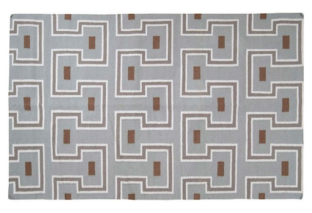 Nico Flat-Weave Rug, Stone/Multi