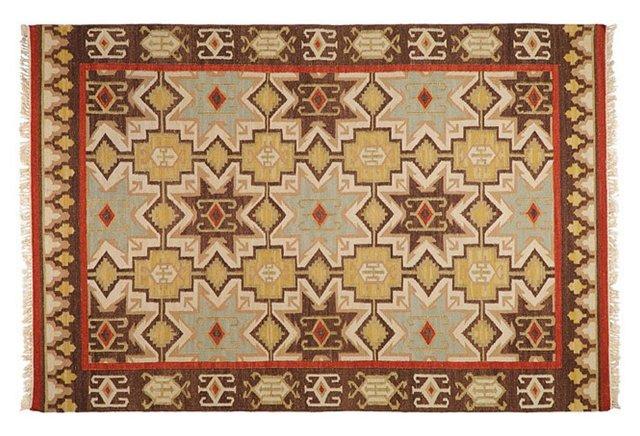 Nadia Flat-Weave Rug, Beige
