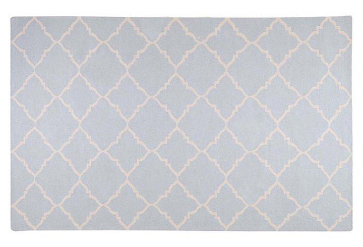 Alta Flat-Weave Rug, Pigeon Gray