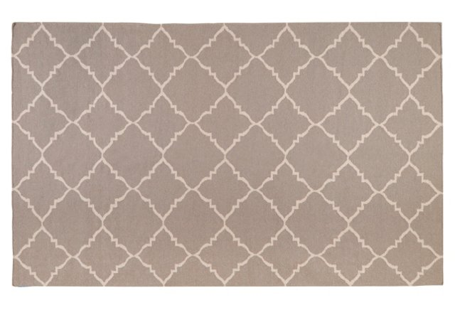 Athena Flat-Weave Rug, Taupe