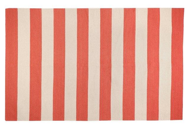 2'x3' Hermes Flat-Weave Rug, Red/Beige