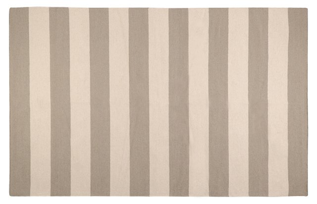 2'x3' Hermes Flat-Weave Rug, Taupe