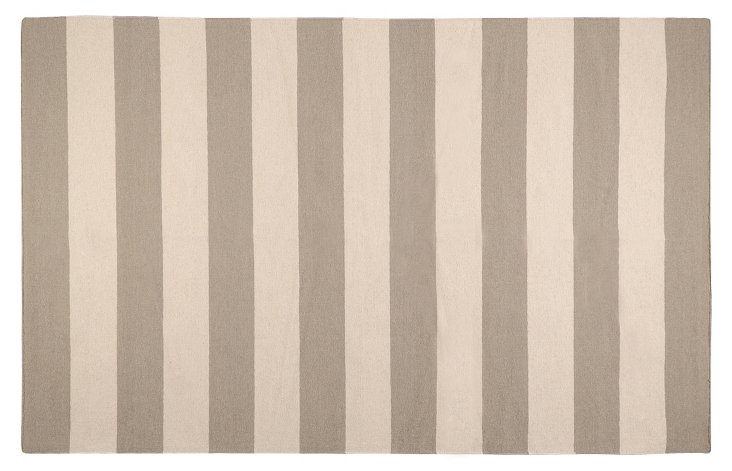 8'x11' Hermes Flat-Weave Rug, Taupe