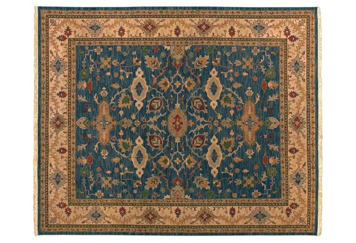 Surya Soumek Rug, Blue/Beige