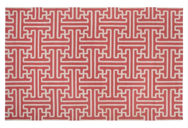 """2'6""""x8' Archive Flat-Weave Runner, Pink"""