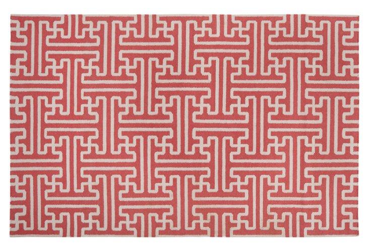 """2'6""""x8' Archive Runner, Poppy Red/Ivory"""