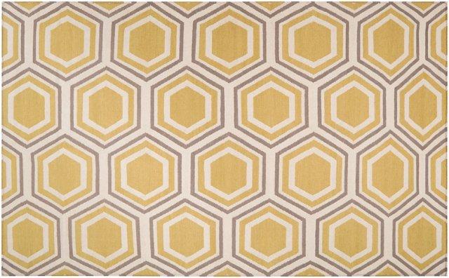 Pandora Flat-Weave Rug, Gold