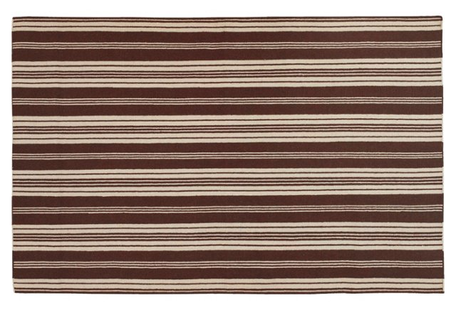 Newport Flat-Weave Rug, Brown