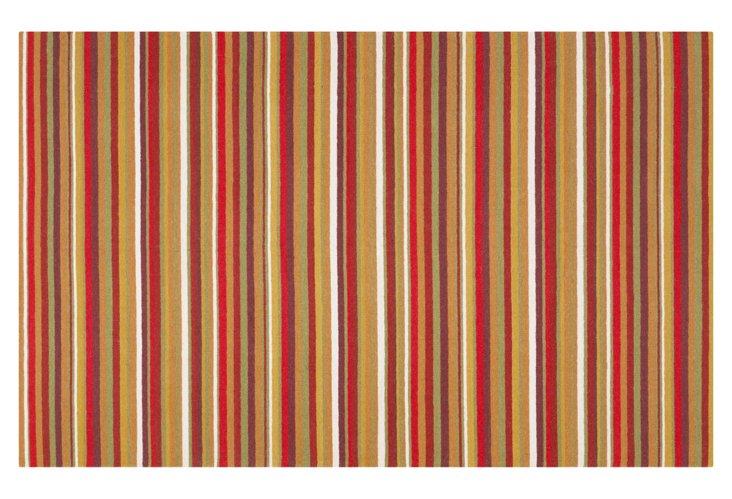 8'x11' Sag Harbor Rug, Red/Multi