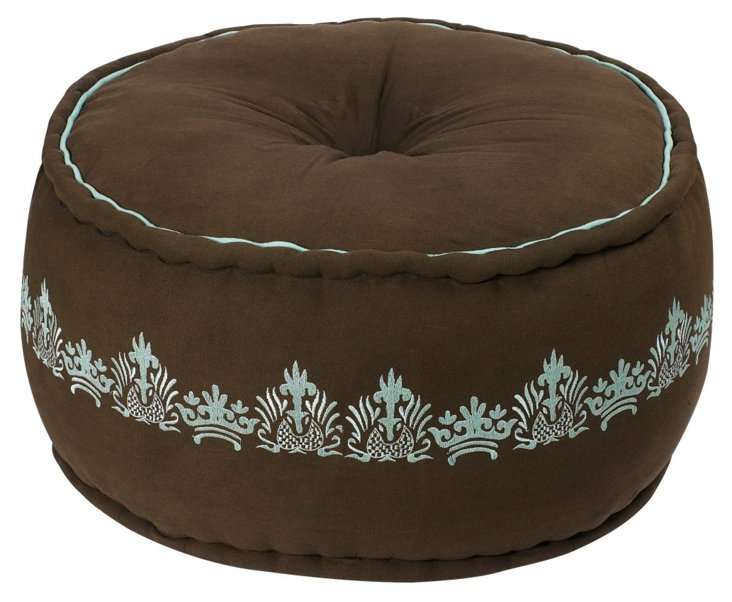 Pike Pouf, Brown/Blue