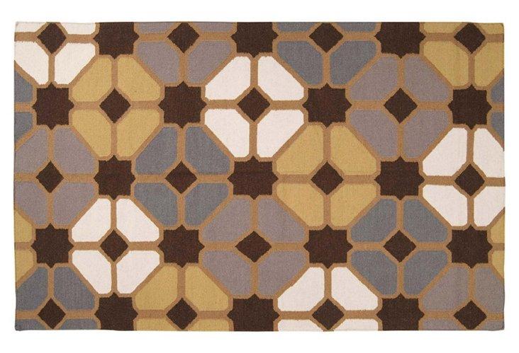 5'x8' Hestia Flat-Weave Rug, Multi