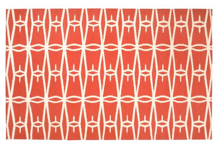 Apollo Flat-Weave Rug, Coral