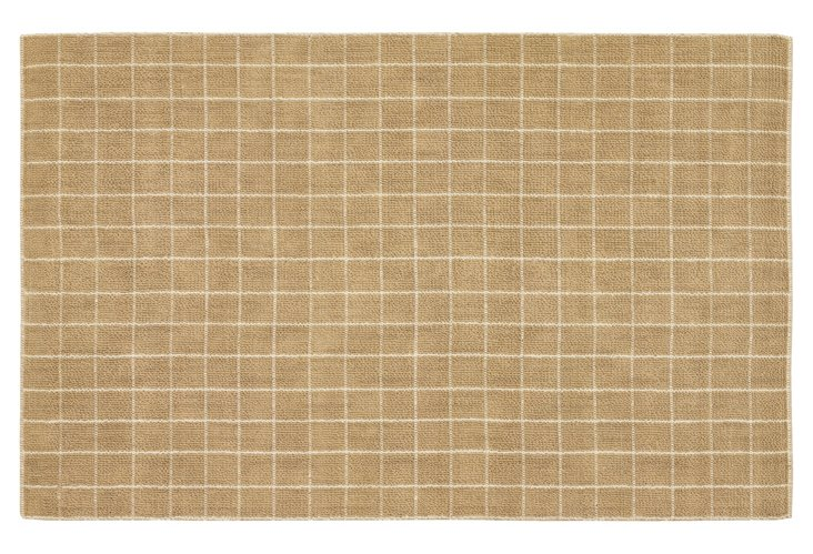 Nelly Jute Rug, Tan/White