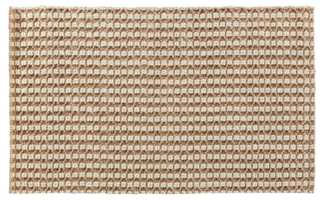 Country Jute Rug, Tan/Ivory