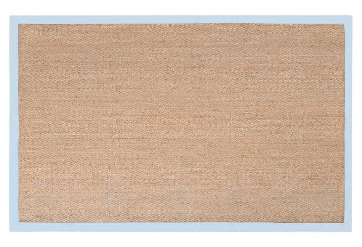 8'x10' Luca Seagrass Rug, Tan/Light Blue