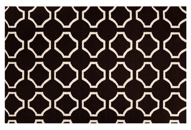 Theia Flat-Weave Rug, Black