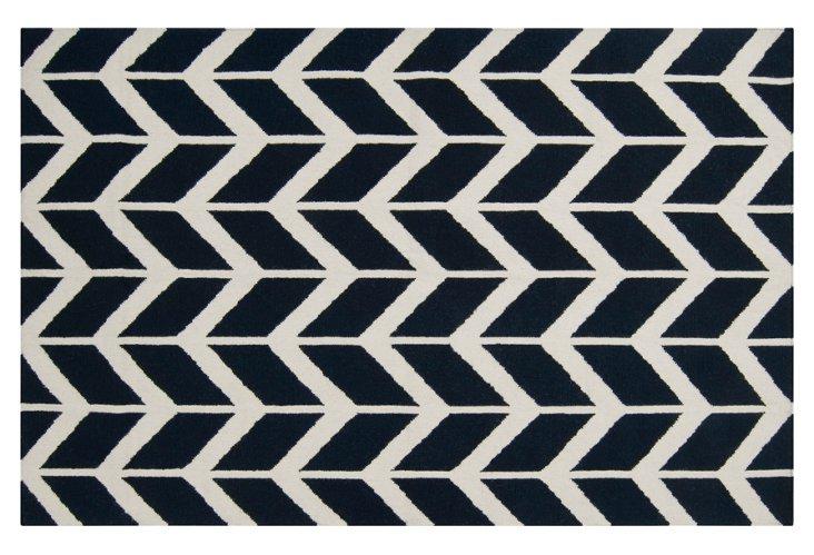 2'x3' Haven Flat-Weave Rug, Navy