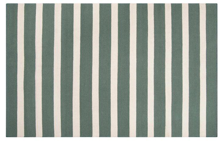 Gaia Flat-Weave Rug, Green