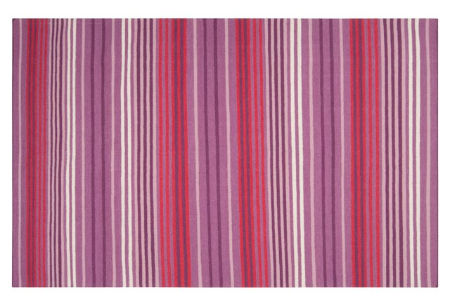 Parker Flat-Weave Rug, Berry