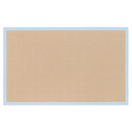 Soho Jute Rug, Tan/Soft Blue