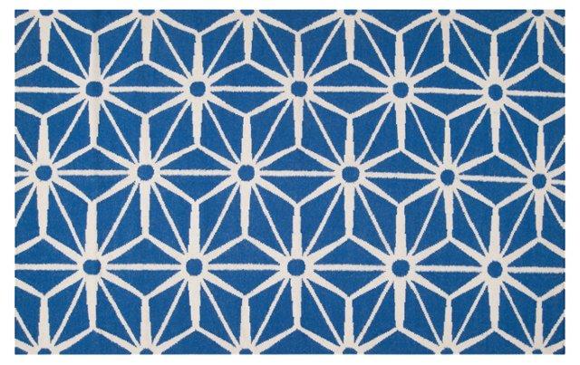 Bricklow Flat-Weave Rug, Blue