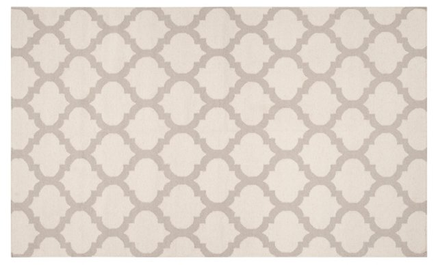 Laurel Flat-Weave Rug, Oatmeal/Taupe