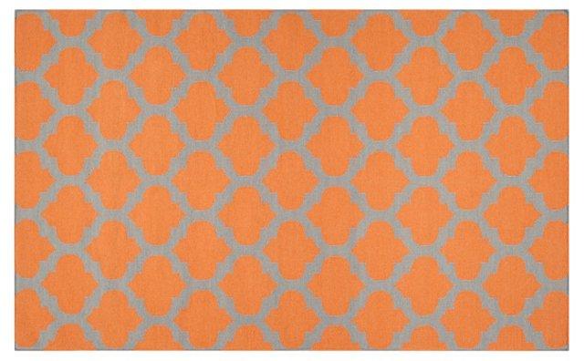 Laurel Flat-Weave Rug, Orange