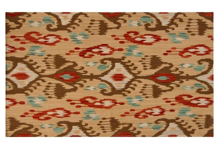 Millie Flat-Weave Rug, Tan/Multi