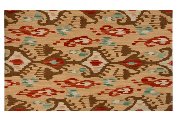 8'x11' Millie Flat-Weave Rug, Tan/Multi
