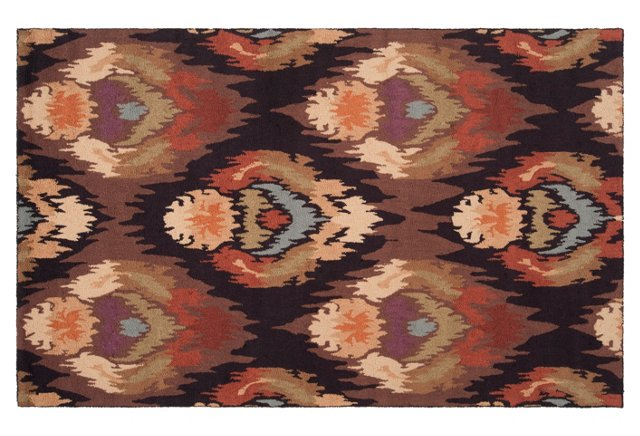 Aria Rug, Chocolate/Multi