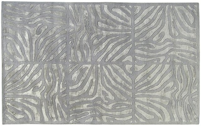 Chronos Rug, Silvered Gray