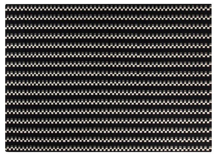 Mack Flat-Weave Rug, Jet Black