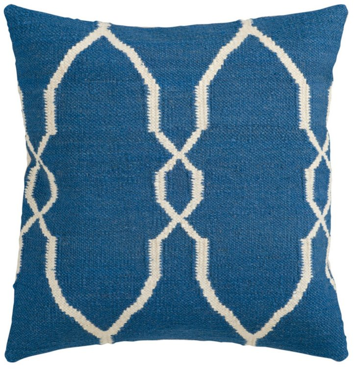 S/2 Blue 22x22 Decorative Pillows