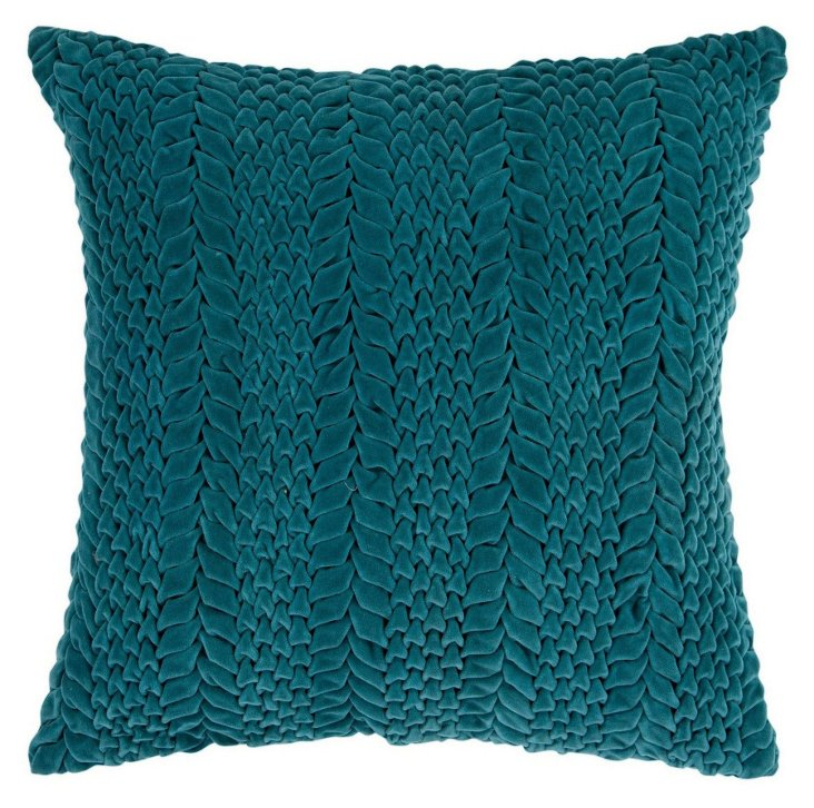 S/2 Scales 18x18 Cotton Pillows, Teal