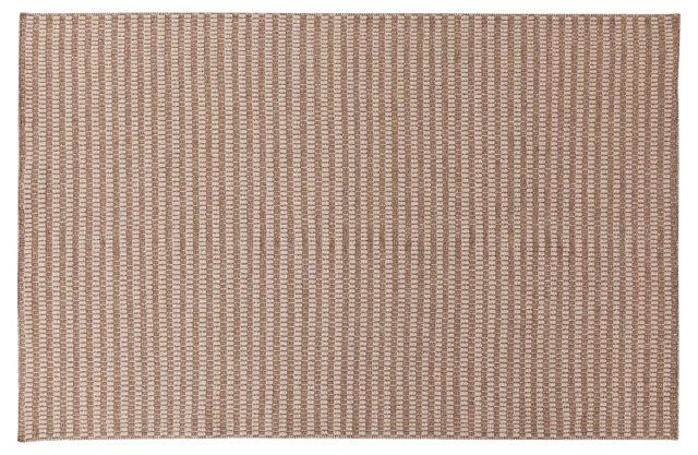 Flora Flat-Weave Rug, Brown