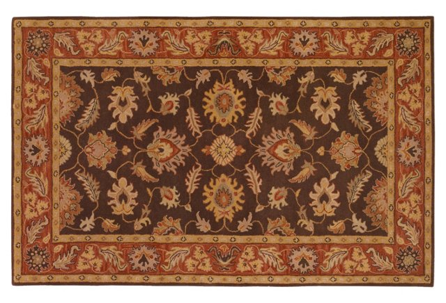 Larch Rug, Cocoa/Burnt Sienna