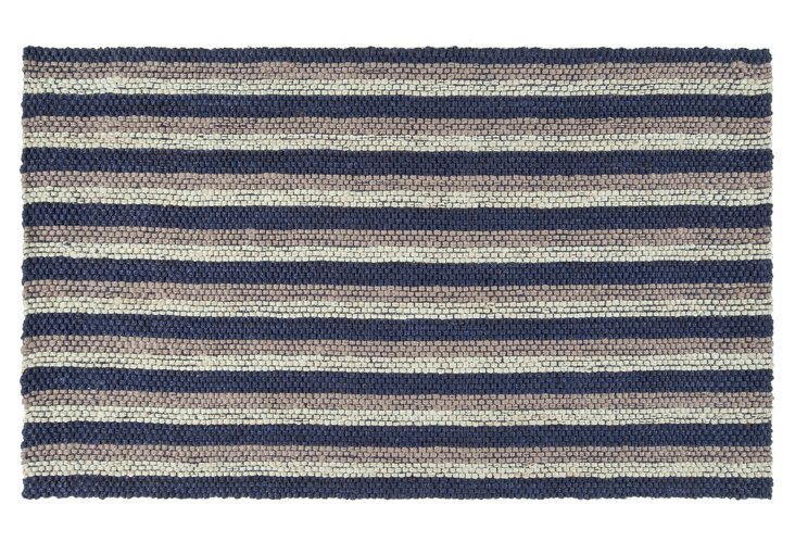 "8'x10'6"" Brielle Jute Rug, Ink/Taupe"