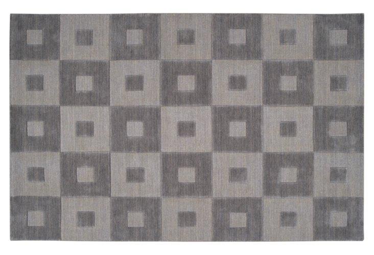8'x11' Carley Rug, Charcoal Gray