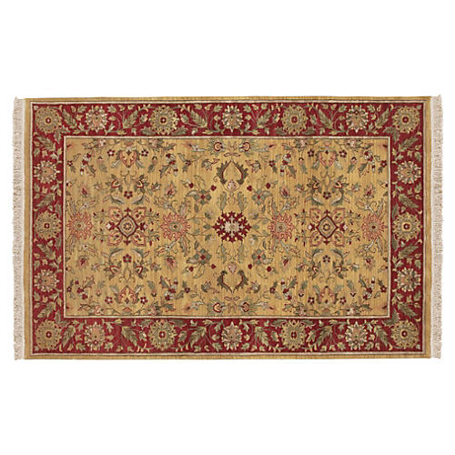 Foundry Rug, Beige/Red
