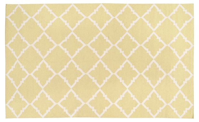 Athena Flat-Weave Rug, Tarragon
