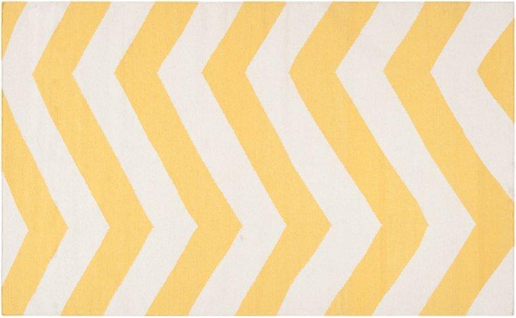 Pi Flat-Weave Rug, Yellow