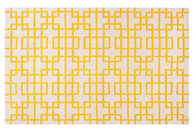 Easton Rug, Lemon/Ivory