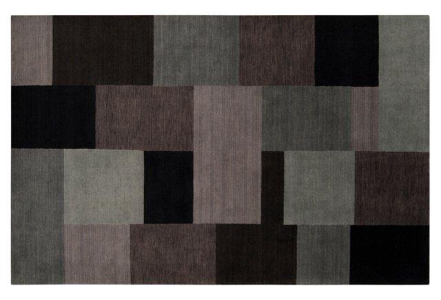 Gadsden Rug, Charcoal Gray/Multi