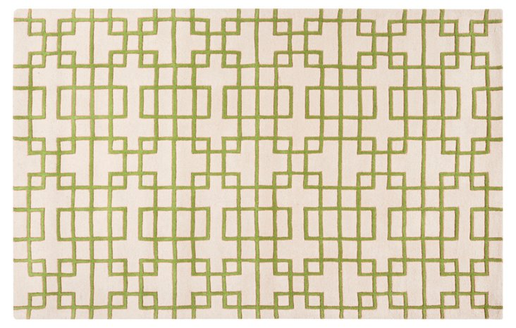 2'x3' Easton Rug, Peridot/Ivory