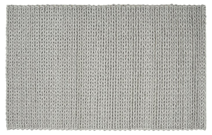 9'x12' Wright Braided Rug, Stone