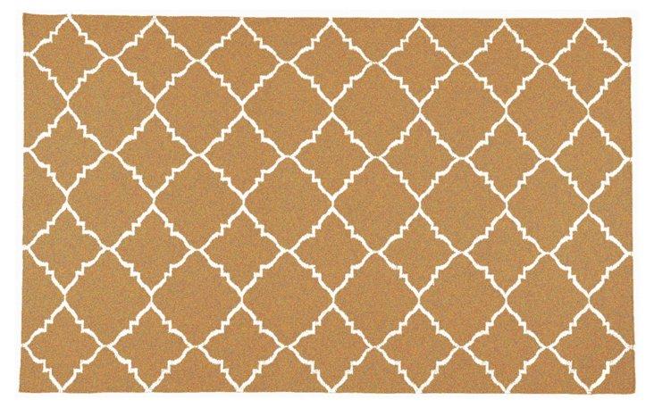 Athena Flat-Weave Rug, Honey